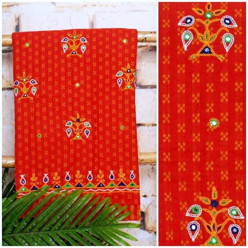 Kutch Work Kurtis Fabric  Cotton Kurtis  Ssethnics
